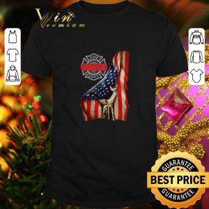 Pretty Firefighter Logo American flag shirt