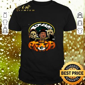 Pretty Horror movie characters Green Bay Packers pumpkin shirt