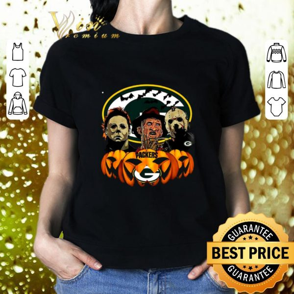 Pretty Horror movie characters Green Bay Packers pumpkin shirt