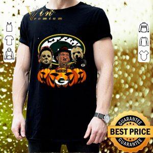 Pretty Horror movie characters Green Bay Packers pumpkin shirt 2