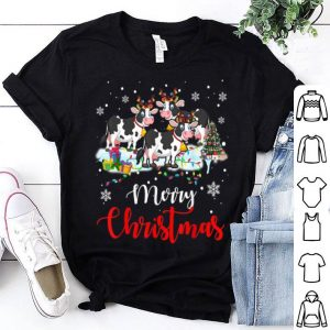 Pretty Merry Christmas Funny Dairy Cow Lover Christmas Gifts sweater