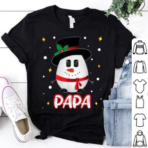 Pretty Papa Snowman Christmas Xmas Matching Family Group shirt