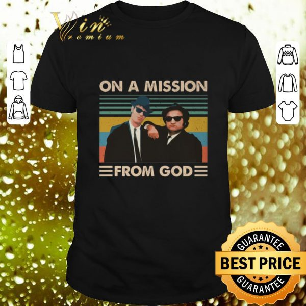 Pretty The Blues Brothers On a mission from god vintage shirt