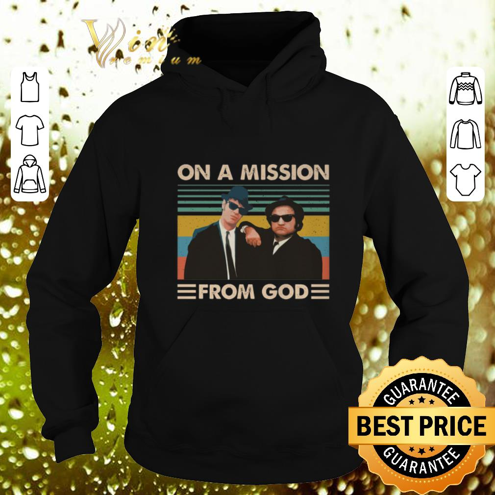 Pretty The Blues Brothers On a mission from god vintage shirt 4 - Pretty The Blues Brothers On a mission from god vintage shirt