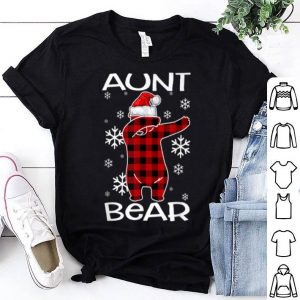 Top Aunt Bear Pajama Dabbing Hat Santa Christmas Family Ugly shirt