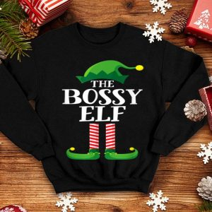 Top Bossy Elf Matching Family Group Christmas Party Pajama shirt