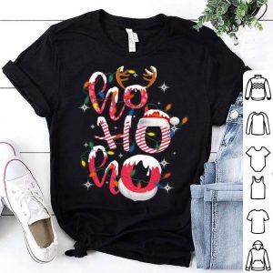 Top Funny Ho-Ho-Ho Candy Christmas Lights Santa Hat Gifts shirt