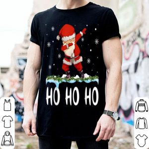 Top Ho Ho Ho Dabbing Santa Claus Christmas Gift Kids Boys Girls shirt