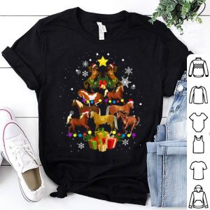 Top Horse Tree Christmas Gift Lover Funny Xmas Holiday shirt