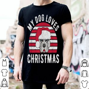 Top My Dog Loves Christmas Retro Gift Idea Vintage shirt