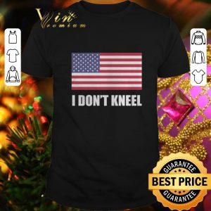 Awesome American flag i don't kneel USA shirt