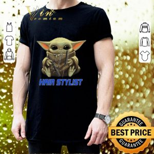 Awesome Baby Yoda hug Hair Stylist Star Wars Mandalorian shirt 2
