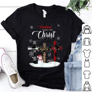 Awesome Christmas Begins with Christ Xmas Gift sweater