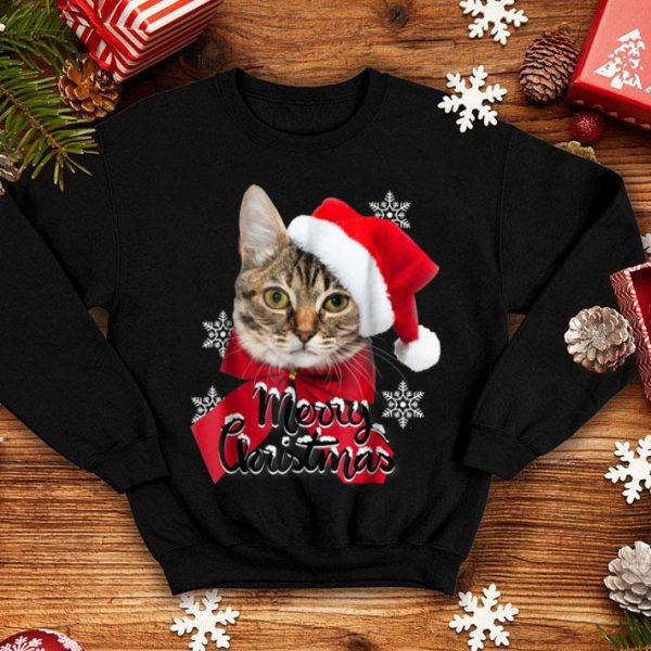 Awesome Christmas Cat Funny Women Santa Hat Girls 3D Gift sweater
