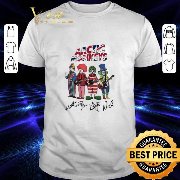 Awesome Clown Arctic Monkeys signatures shirt