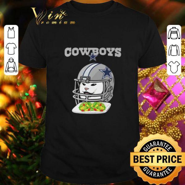 Awesome Dallas Cowboys Cat Meme Woman Yelling at Cat shirt