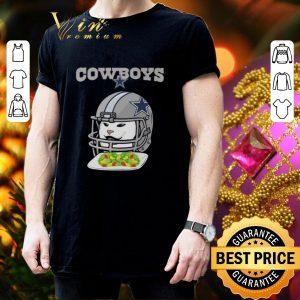 Awesome Dallas Cowboys Cat Meme Woman Yelling at Cat shirt 2