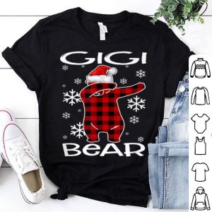 Awesome Gigi Bear Pajama Dabbing Hat Santa Christmas Family Ugly sweater