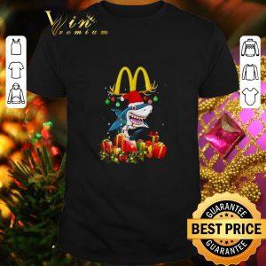 Awesome Mcdonald's Shark Christmas gifts shirt