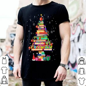 Awesome Merry Christmas Library Tree Cute Book Lover Librarian Gifts sweater