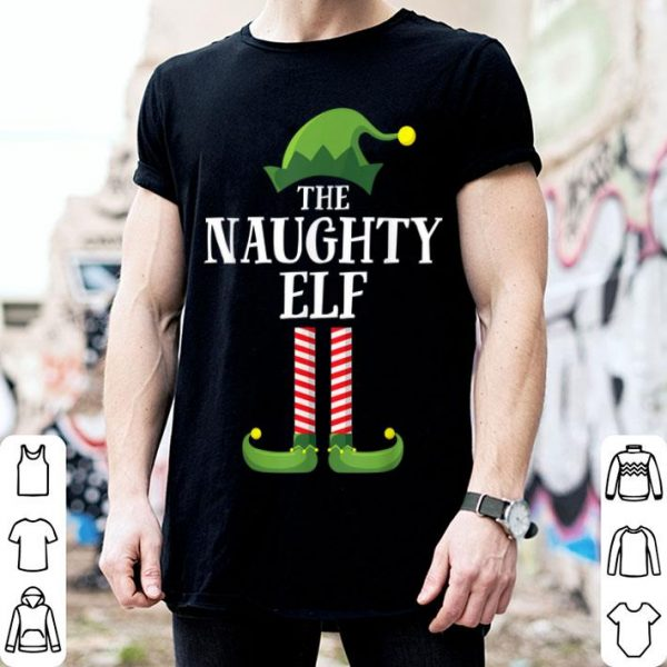 Awesome Naughty Elf Matching Family Group Christmas Party Pajama sweater