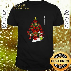 Awesome Paw dog Christmas tree gift shirt