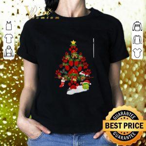Awesome Paw dog Christmas tree gift shirt 1