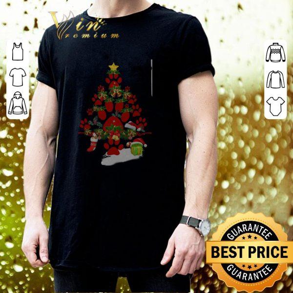 Awesome Paw dog Christmas tree gift shirt