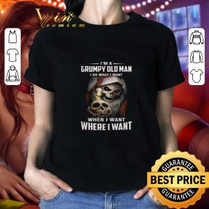 Awesome Skull santa I'm a Grumpy old man i do what i want when i want shirt