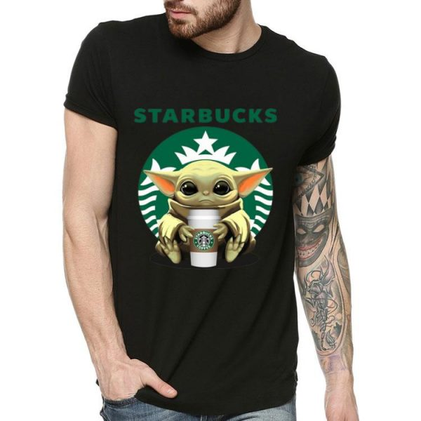 Baby Yoda Hug Starbucks Coffee shirt