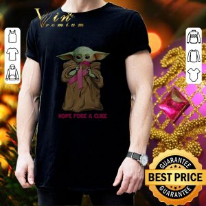 Best Baby Yoda hope fore a cure Breast Cancer shirt 2