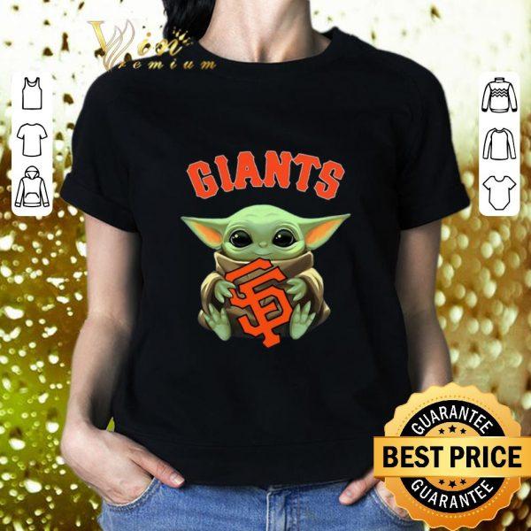 Best Baby Yoda hug San Fran Giants Star Wars Mandalorian shirt
