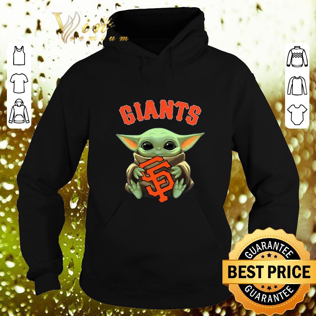 Best Baby Yoda hug San Fran Giants Star Wars Mandalorian shirt 4 - Best Baby Yoda hug San Fran Giants Star Wars Mandalorian shirt