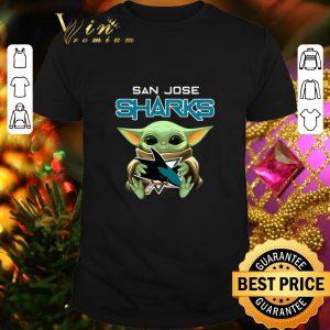 Best Baby Yoda hug San Jose Sharks Star Wars Mandalorian shirt