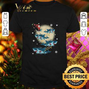 Best Santa Claus Riding Shark Reindeer Christmas shirt