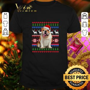 Best Santa English Bulldog Ugly Christmas shirt