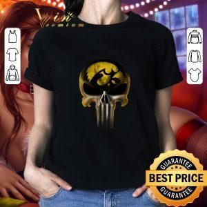Best Skull Iowa Hawkeyes The Punisher Mashup NCAA Football shirt