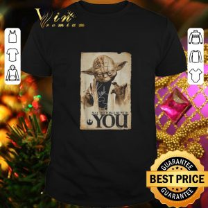Best Yoda may the force be with you signature Star Wars shirt