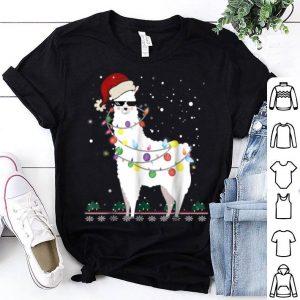 Christmas Llama Santa Hat Ugly Xmas Tree Alpaca Shirt sweater