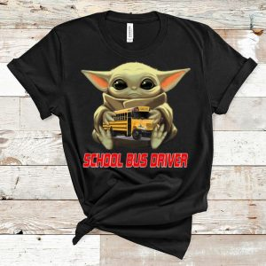 Hot Star Wars Baby Yoda Hug School Bus Driver shirt