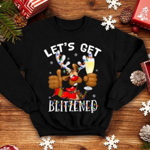 Nice Funny Reindeer Let Get's Blitzened Christmas Gift sweater