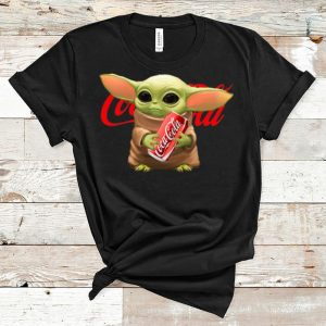 Nice Star Wars Baby Yoda Hug Coca Cola shirt