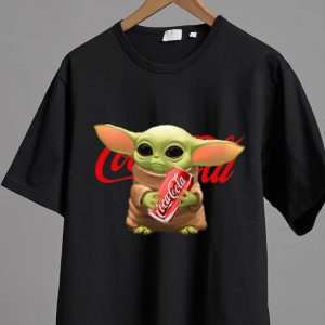 Nice Star Wars Baby Yoda Hug Coca Cola shirt 1
