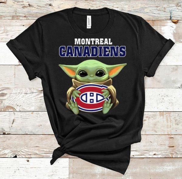 Nice Star Wars Baby Yoda Hug NHL Montreal Canadiens shirt