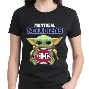 Nice Star Wars Baby Yoda Hug NHL Montreal Canadiens shirt 2