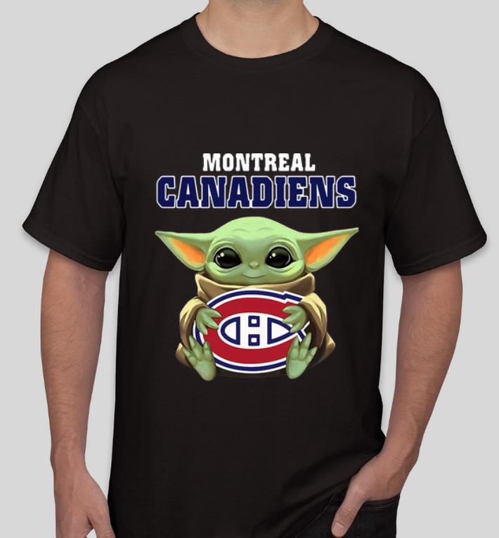 Nice Star Wars Baby Yoda Hug NHL Montreal Canadiens shirt 4 - Nice Star Wars Baby Yoda Hug NHL Montreal Canadiens shirt