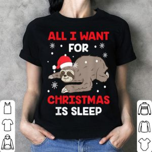 Official All I Want For Christmas Is Sleep Funny Xmas Pajama Costume sweater