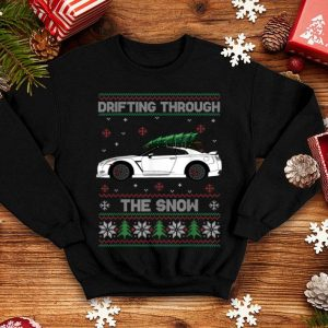 Official Christmas Tree On Tuning Car Xmas Ugly Sweater Pullover Look sweater