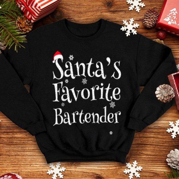 Official Santas Favorite Bartender Christmas Profession Job Gift sweater