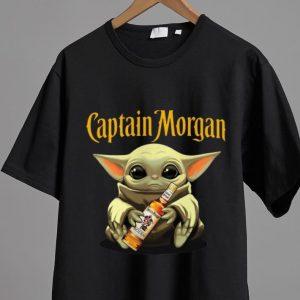 Official Star Wars Baby Yoda Hug Captain Morgan shirt